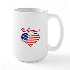 LOVE Ballroon stars and stripes Mug