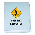 Sasquatch Sign baby blanket