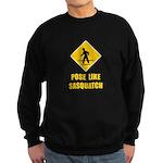 Sasquatch Sign Sweatshirt (dark)
