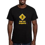 Sasquatch Sign Men's Fitted T-Shirt (dark)