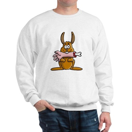 rabbit zombie eating arm Sweatshirt