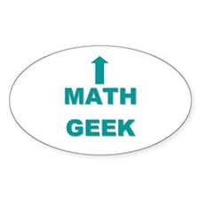 Math Geek Oval Decal