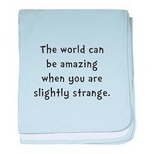 Slightly Strange baby blanket