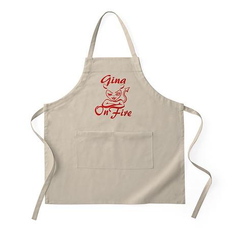 Gina On Fire Apron