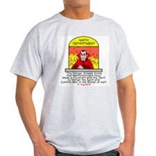 Mathematicians and Satan Ash Grey T-Shirt
