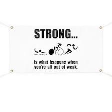 Triathlon Strong Banner