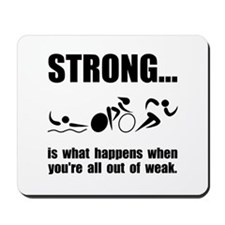 Triathlon Strong Mousepad
