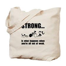 Triathlon Strong Tote Bag
