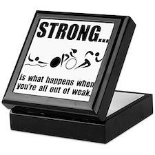 Triathlon Strong Keepsake Box