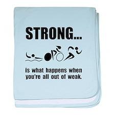 Triathlon Strong baby blanket
