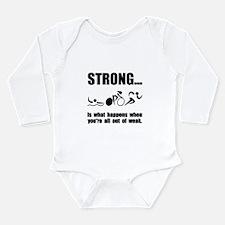 Triathlon Strong Long Sleeve Infant Bodysuit