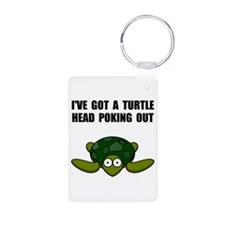 Turtle Head Poking Out Keychains