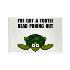 Turtle Head Poking Out Rectangle Magnet (100 pack)