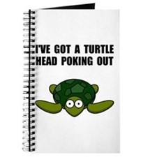 Turtle Head Poking Out Journal