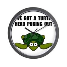 Turtle Head Poking Out Wall Clock