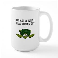 Turtle Head Poking Out Mug