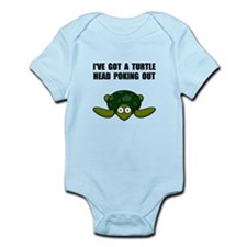 Turtle Head Poking Out Infant Bodysuit