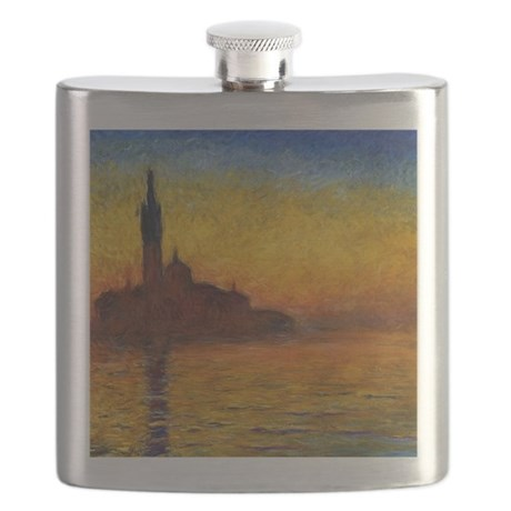 Monet Twilight Venice Flask