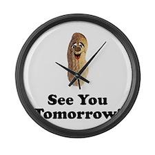See You Tomorrow Peanut Large Wall Clock