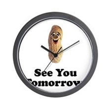 See You Tomorrow Peanut Wall Clock