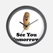 See You Tomorrow Peanut Wall Clock