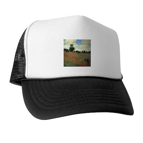 Monet Wild Poppies (detail) Trucker Hat