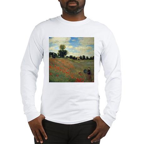Monet Wild Poppies (detail) Long Sleeve T-Shirt
