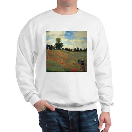 Monet Wild Poppies (detail) Sweatshirt