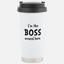 Im The Boss Stainless Steel Travel Mug