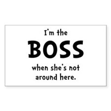 Im The Boss Shes Not Around Decal
