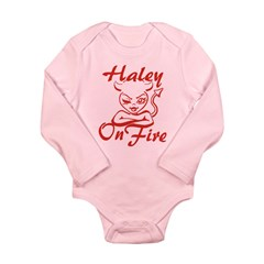 Haley On Fire Long Sleeve Infant Bodysuit