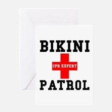 Bikini Patrol Greeting Card