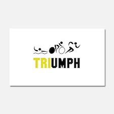 Tri Triumph Car Magnet 20 x 12