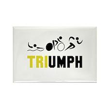 Tri Triumph Rectangle Magnet (100 pack)