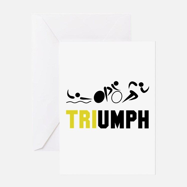 Tri Triumph Greeting Card
