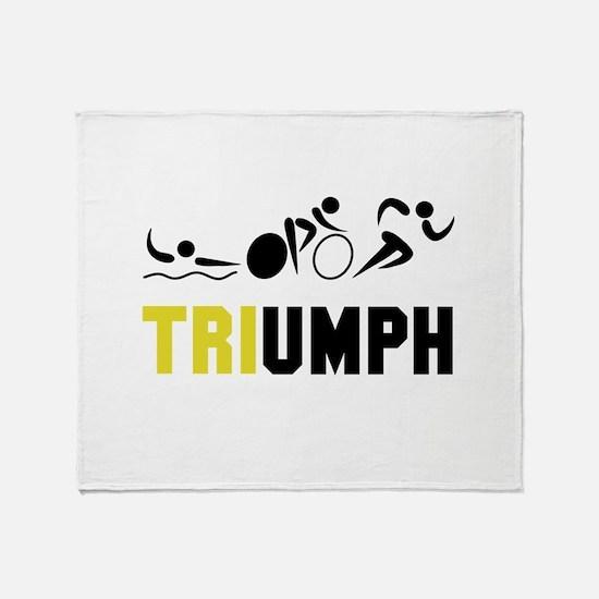 Tri Triumph Throw Blanket
