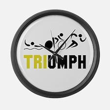 Tri Triumph Large Wall Clock