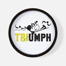 Tri Triumph Wall Clock