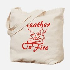 Heather On Fire Tote Bag
