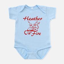 Heather On Fire Infant Bodysuit