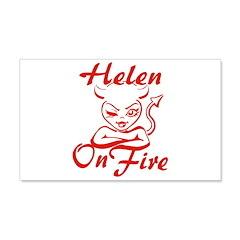 Helen On Fire Wall Decal