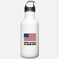 One Nation Under God Water Bottle