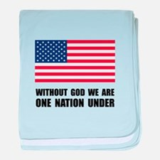 One Nation Under God baby blanket