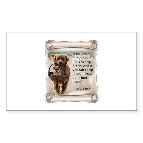 Dalai Lama Dogs ~950x950.png Sticker (Rectangle)
