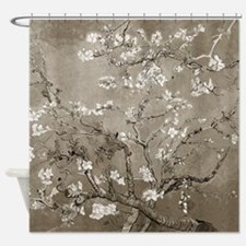 Almond Branches In Bloom (Sepia) Shower Curtain
