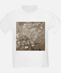 Almond Branches In Bloom (Sepia) T-Shirt