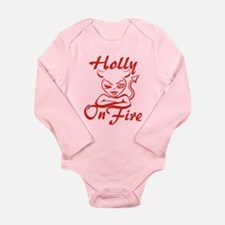 Holly On Fire Long Sleeve Infant Bodysuit