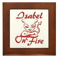 Isabel On Fire Framed Tile