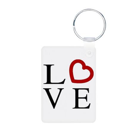 Love Logo Aluminum Photo Keychain