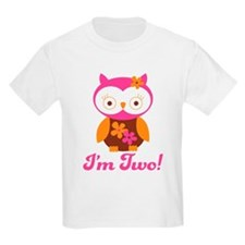 I'm Two Retro Owl T-Shirt
